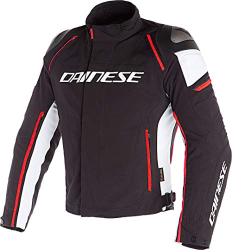1654605N3211 - Dainese Racing 3 D-Dry Motorcycle Jacket 50 Black/White/Fluo-Red (UK 40)