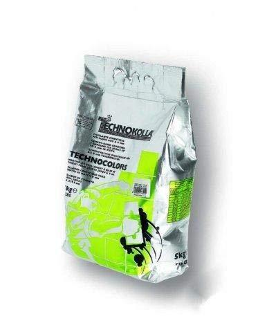 Technocolors afdichtmiddel voor voegen breedtes tegels binnen/buiten 5 kg kleurkeuze wit