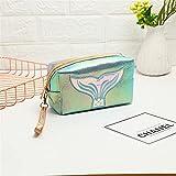 Mermaid Mujeres Cosmetic Bag Zipper Bolsa de maquillaje Viaje Lápiz labial Caja de belleza Bolsa de aseo a prueba de agua Bolsa de almacenamiento (Color : C)