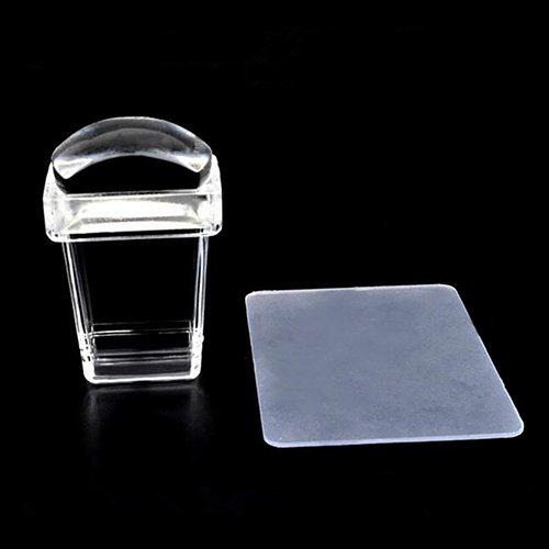 Bodhi2000 Lot de 2 tampons en silicone transparent pour nail art