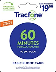 Tracfone 60 Minute - 90 Days of Service Plan For Talk, Text, and Web Will Double and Triple Quick Delivery, Tracfone USA Only