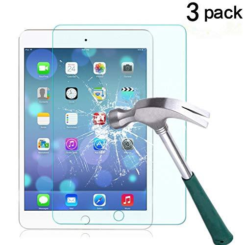 TANTEK l209 HD Clear/Anti Scratch/Anti Glare/Anti Fingerprint Tempered Glass Screen Protector for Apple IPad Mini 4 (7.9'), 3 Piece