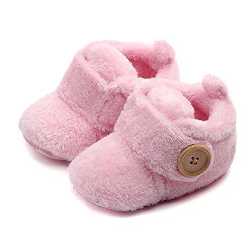 ZUMUii Butterme Botas de Cuna con Suela Blanda para Bebé Cálida Botas de Piel Sintética Botas de Nieve Prewalker para Niños Pequeños
