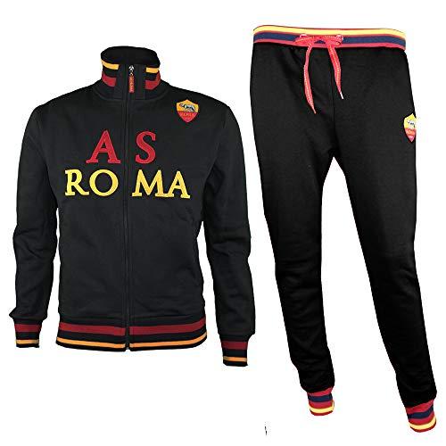 AS Roma Herrenanzug, Fleece, Full Zip Offizielles Produkt Art. 13181, Schwarz Large