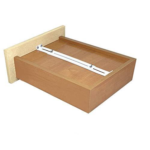 FRMSAET Kit de reparación de cajones - Accesorios de muebles Soportes utilizados para reforzar y reparar cajones de madera/MDF/aglomerado Refuerzo de gabinetes. (Paquete de 1)