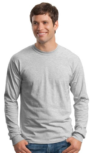 Gildan Ultra Langarm-Shirt aus Baumwolle, Herren, G240, grau
