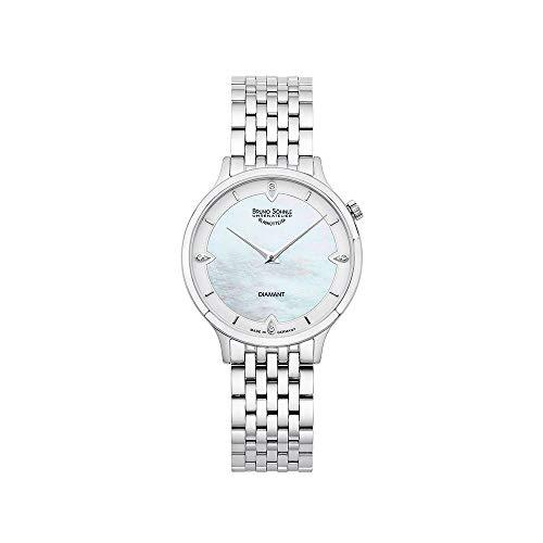 Bruno Söhnle Damen Analog Quarz Uhr mit Edelstahl Armband 17-13213-292