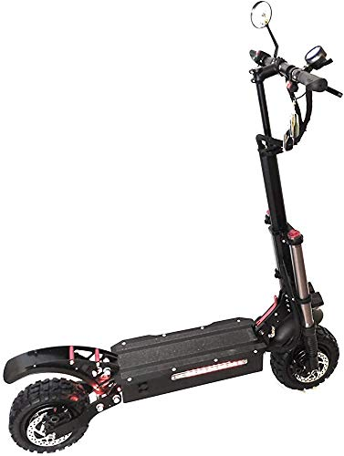 5600W scooters eléctricos de doble tubo velocidad máxima del motor de 85 kmh con un patín eléctrico asiento fuera de la carretera,Black