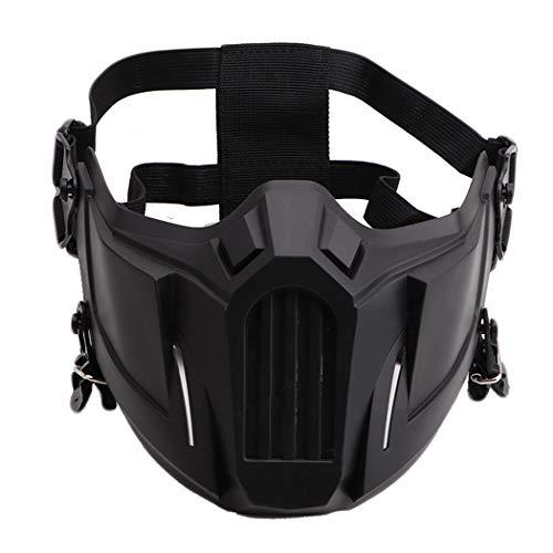 Fansport Airsoft Mask Creative Protective Half Face Mask Outdoor Game Mask Costume Mask Outdoor Sports Masks (Black)