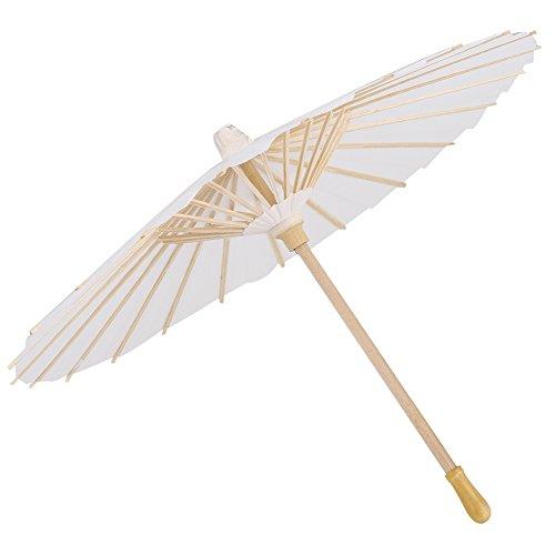 Zerodis Papier Parasol Chinees/Japanse Decoratieve Paraplu Witte DIY Schilderen Decoratieve Paraplu Bruiloft Bruidsfeest Decor Foto Cosplay Prop
