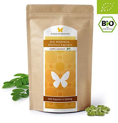 200 BIO-Moringa-Kapseln á 500mg, DE-ÖKO-012, hochdosierte Tabletten für 2 Monate, zertifizierte Bio Qualität, vegan (200 Tabletten)