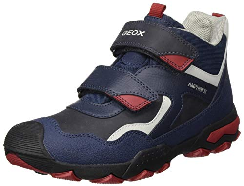 Geox Jungen J BULLER Boy B ABX B Rain Shoe, (Navy/Dk Red), 38 EU