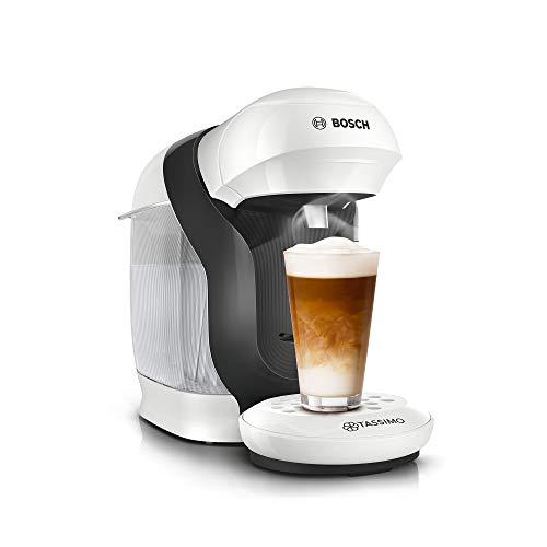 Cafetera de cápsulas Tassimo Style TAS1104 de Bosch, más de 70 bebidas, totalmente automática, apta para todas las tazas, ahorra espacio, 1400 W, color blanco