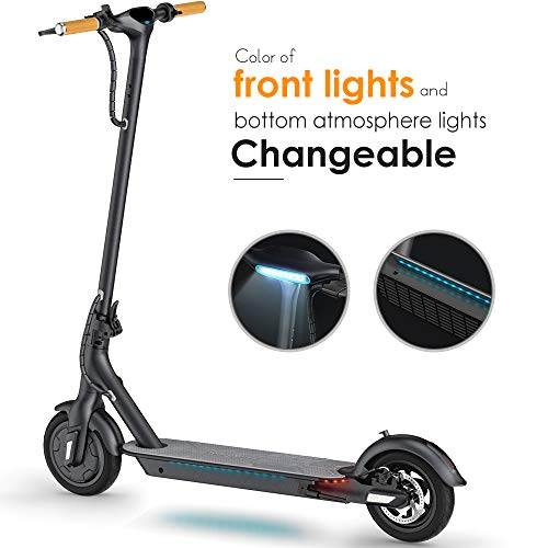TOMOLOO L1 Electric Scooter with Unique Honeycomb Tire Design, 18.6 Mile Long-Range, up to 15.5 mph,...