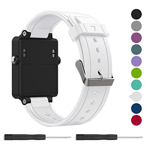 for Garmin vivoactive Band,EasyJoy Soft Silicone Replacement Band for Garmin vivoactive Smart Watch,Not fit Garmin vivoactive hr (White)