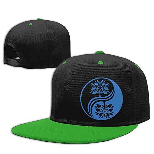 Generic Brand Klassischer Hip-Hop-Baseball-Hut für Jungen und Mädchen mit japanischem Bonsai-Baum aus Yin Yang-Baumwollgolfkappe