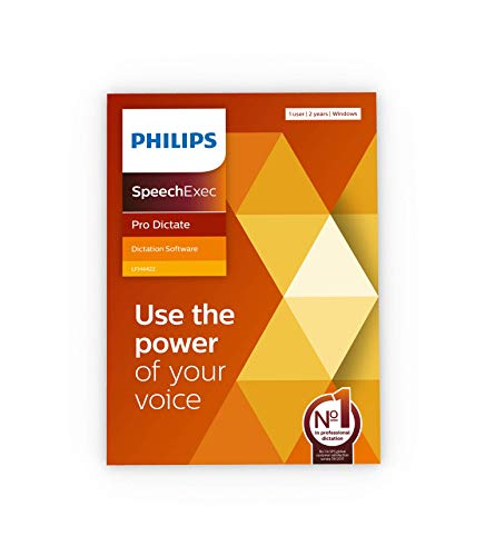 dictation softwares Philips LFH4422 SpeechExec Pro 11.5 Dictate 2-Year Subscription Software