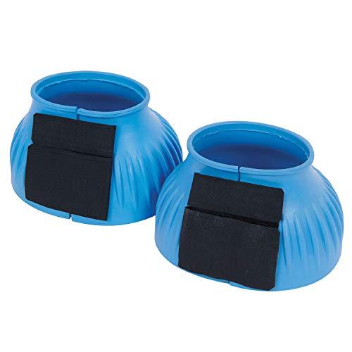 Saxon - Campanas con diseño estriados para caballos (Full) (Azul claro)