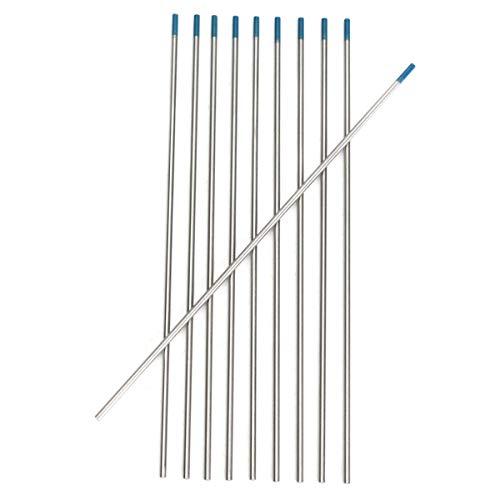 Schweißdraht Lanthanum Wolframelektrode 10Pcs Tungsten 2 Prozent Lanthanated blaue Spitze WIG Elektroden WL20 Schweißdrähte Schweiß Zubehör (Package : 10Pcs)