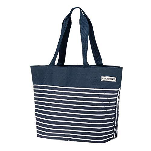anndora Shopper 17 Liter Damen Handtasche Navy blau weiß