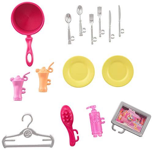 Barbie - Casa amueblada pleglable con cocina, piscina, dormitorio y lavabo con muñeca rubia (Mattel FXG55), Embalaje…
