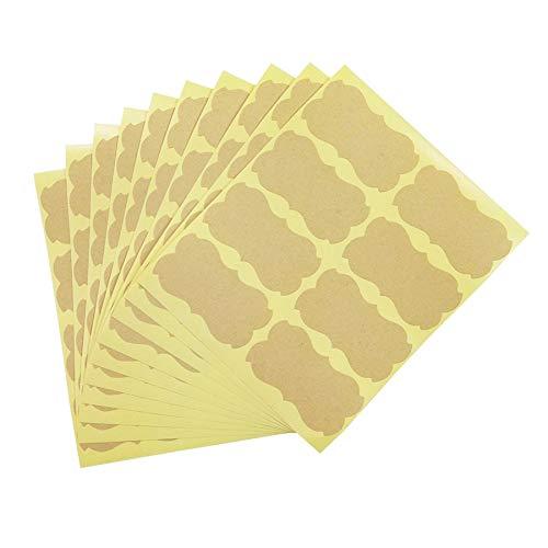 80 unids/Lote Pegatina Hecha a Mano Vintage Etiqueta Kraft en Blanco DIY Hecho a Mano para Regalo Pastel Hornear Adhesivo de Sellado