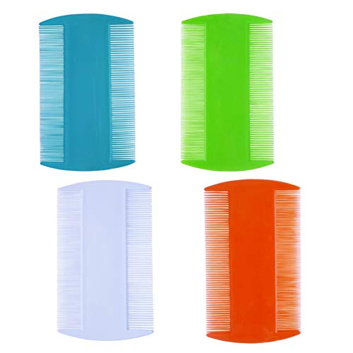 zYoung 4 Pcs Hair Comb Double Sided Fine Tooth Combs