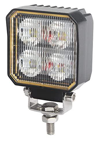 Foco de Trabajo LED con Interruptor Encendido · 20W - 1600 Lúmenes - ON/OFF · 10-30V · IP67 · Faro LED adicional Camión, Coche 4x4, Tractor