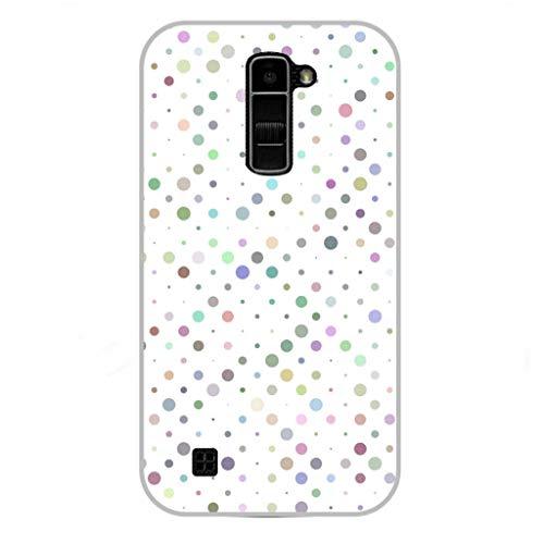 Todo Phone Store Funda Personalizada Diseño Impresion UV LED Silicona Dibujo TPU Gel [Lunares 008] para LG K10 (2016)