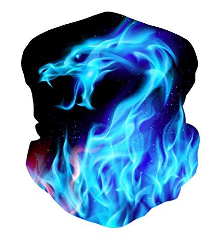 ALISISTER Galaxis Drachen Multifunktionstuch Nahtloses Bandana Halstuch Schlauchtuch 3D Druck Kopftuch Stirnband Motorrad Outdoor UV Staubschutz Halbes Schal