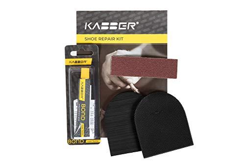 Kabber DIY Absätze zum ankleben für Damen | Schuhreparaturset Fersenersatz für Damenschuhe | Anti-Rutsch-Absatz für Damenschuhe | In Europa hergestellt