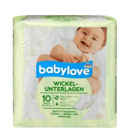 babylove Wickelunterlagen, 50 Stück (5x 10er Pack)