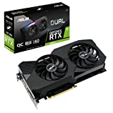 ASUS Dual NVIDIA GeForce RTX 3060 Ti V2 OC Edition Gaming Graphics Card (PCIe 4.0, 8GB GDDR6 Memory, LHR, HDMI 2.1, DisplayPort 1.4a, Axial-tech Fan Design, Dual BIOS, Protective Backplate)