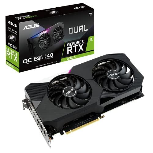 ASUS Dual NVIDIA GeForce RTX 3060 Ti V2 OC Edition Gaming Graphics Card (PCIe 4.0, 8GB GDDR6 Memory,...