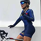 Conjuntos de ciclismo largos for mujer uniforme de triatlón Jumpsuit 9D Pad Bicycle Ropa Bike Jersey Juego Mtb Ciclismo de skinsuit (Color : 2, Size : Medium)