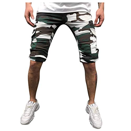 Why Should You Buy Men's Shorts Camouflage Elastic Waist Drawstring Sweatpants with Zipper Pockets