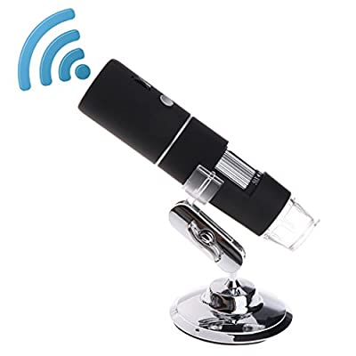 WiFi USB Microscope, Goodqueen Built in WiFi Wireless Digital Microscope Camera with 1080P HD 2MP 50x to 1000x Magnification Endoscope for Android, iOS, Smartphone, Tablet, Widows, iPad, Mac PC