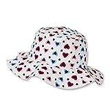 Sterntaler Hut für Mädchen mit buntem Herzchen-Motiv, Alter: 2-4 Jahre, Größe: 53, Weiß