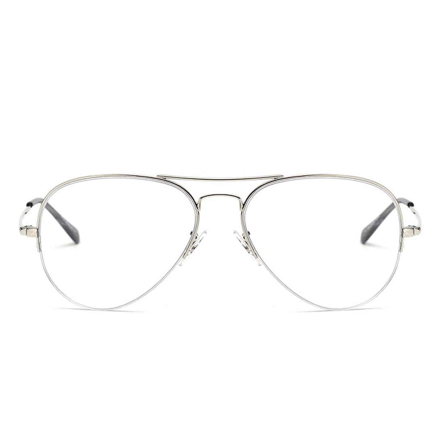 CHICLI Blue Light Blocking Computer Glasses Retro Rimless Video Eyeglasses Reduce Eye Strain Anti Glare Clear Lens Men Women Silver
