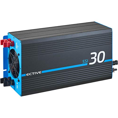 ECTIVE 3000W 12V zu 230V Reiner Sinus-Wechselrichter SSI 30 mit MPPT-Laderegler, Batterie-Ladegerät, NVS- und USV-Funktion