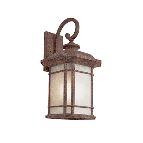 Trans Globe Imports PL-5822 RT Transitional One Light Wall Lantern from San Miguel Collection in Bronze/Dark Finish, 12.00 inches, Rust