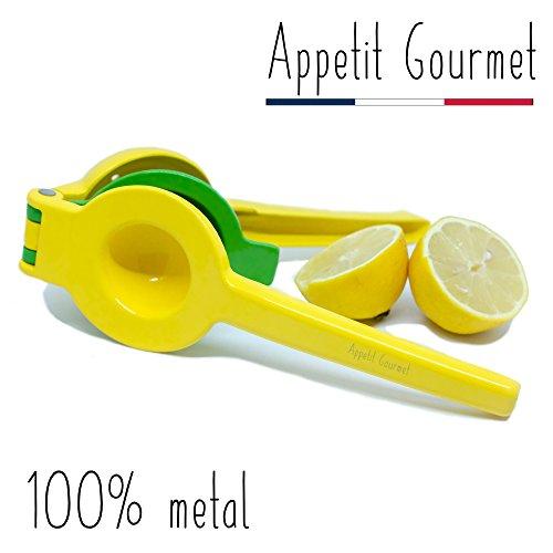 Appetit Gourmet Spremiagrumi Spremi Limone Manuale 2 in 1 Infrangibile in Alluminio Attrezzo con Doppia Ciotola Che Permette di spremere Limoni Gialli, Limoni Verdi Estrattore Succo 100% Senza Semi