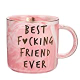 Best Friend Birthday Gifts for Women - Best F Friend Ever - Funny Friendship Gifts for Women - Gifts for BFF, Bestfriend, Besties, Sister, Her, Woman - Cute Pink Marble Mug, 11.5oz Coffee Cup