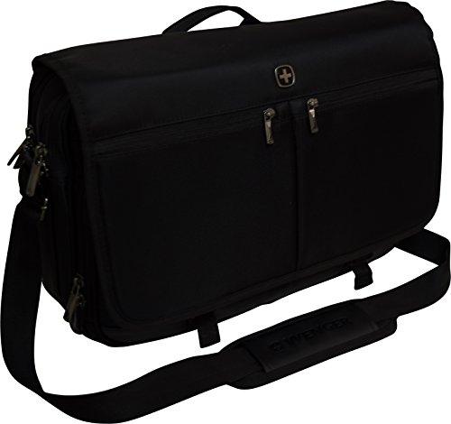 SwissGear by Wenger Insider 16' Laptop Messenger with Tablet Pocket - Black