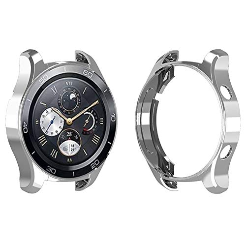Cellphoneparts BZN Smart Watch Case per Huawei 2 PRO Elegante Custodia Protettiva in TPU (Nero) (Color : Silver)