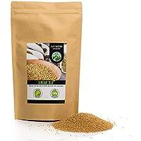 Mostaza en granos (500g), semillas de mostaza amarillas y blancas 100% naturales, secas suavemente, semillas de mostaza naturalmente sin aditivos, veganas