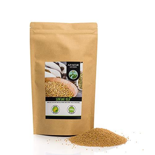 Mostaza en granos (500g), semillas de mostaza amarillas y