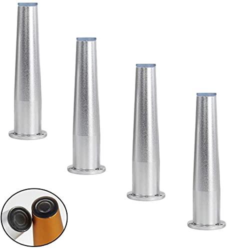 FTYYSWL 4pcs Mobiliario de Metal, Patas de aleación de Aluminio, piernas de sofá de Repuesto, Patas de Cocina Ajustables de Altura, Mesa de Mesa de Mesa
