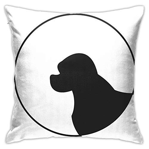 longdai Silhouette Of A Dog Animal - Fundas de almohada cuadradas para salón, sofá, dormitorio, con cremallera invisible, 45 x 45 cm