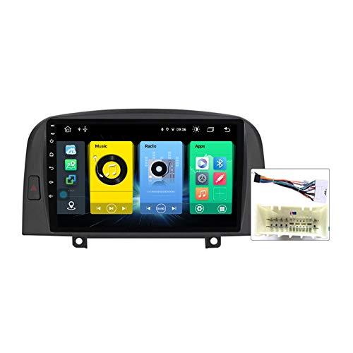 Gokiu Android 9.1 GPS Navigation Stereo Radio para Hyundai Sonata NF 2004-2008, 9' Pantalla Coche Media Player Soporte Carpaly/5G FM RDS/Control Volante/Bluetooth Hands-Free,Plug a,7731